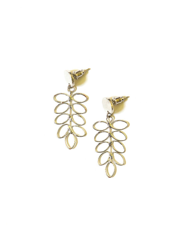 Fern Stud Earrings - Silver