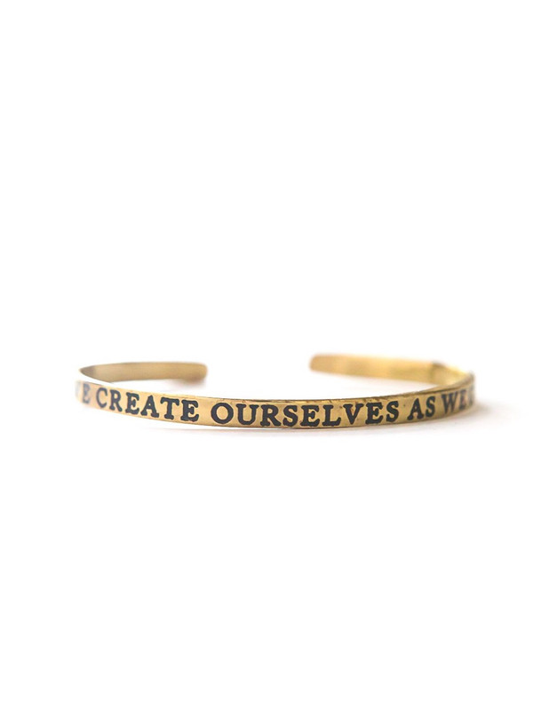 Create Yourself Cuff - Brass