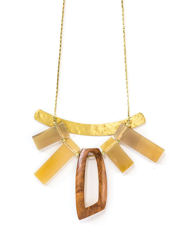 Deeply Rooted Horn Necklace