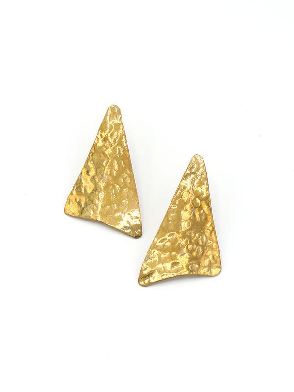 Textured Triangle Studs