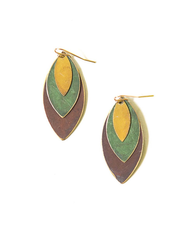 Autumnal Tones Leaf Earrings