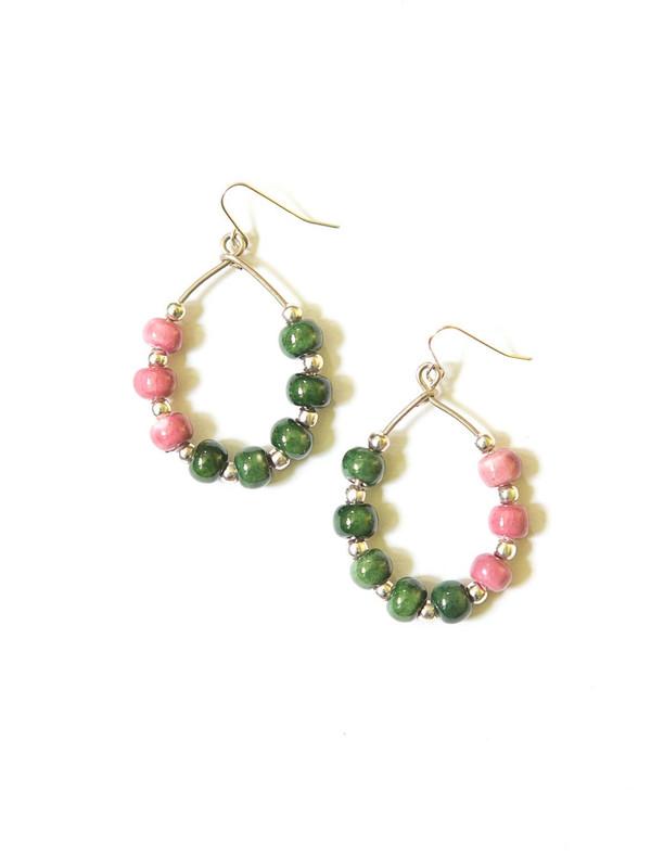 Color Pop Ceramic Earrings - Silver