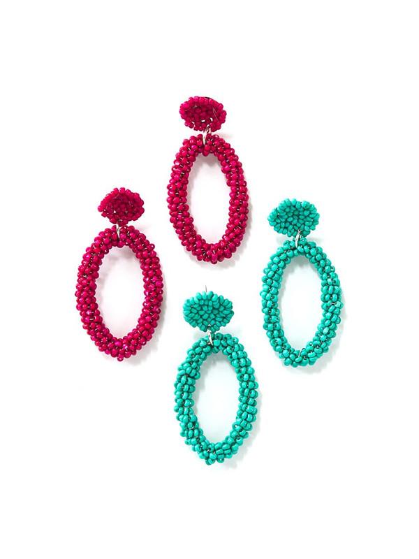 Fiesta Beaded Loop Earrings