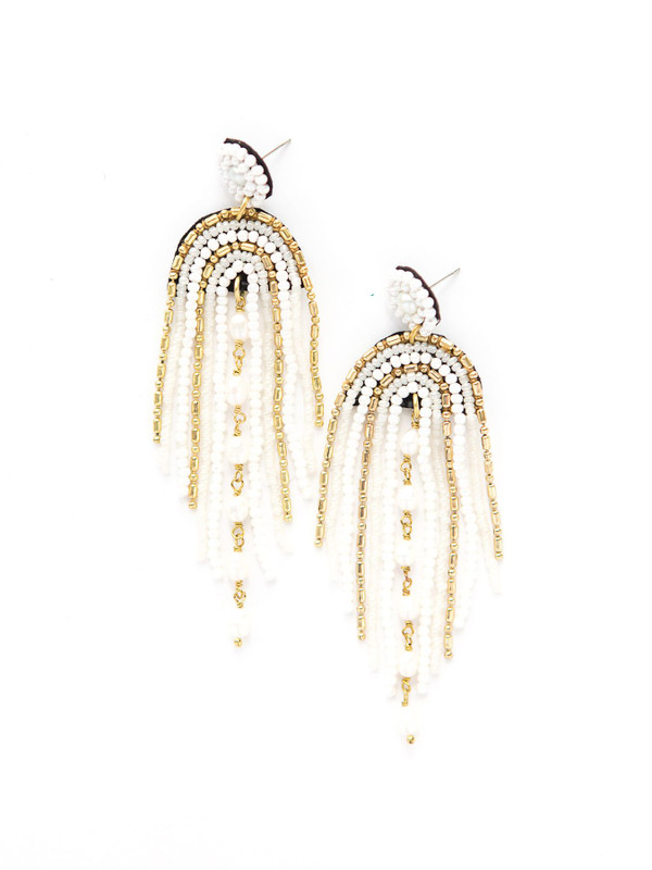 Pearlescent Chandelier Earrings