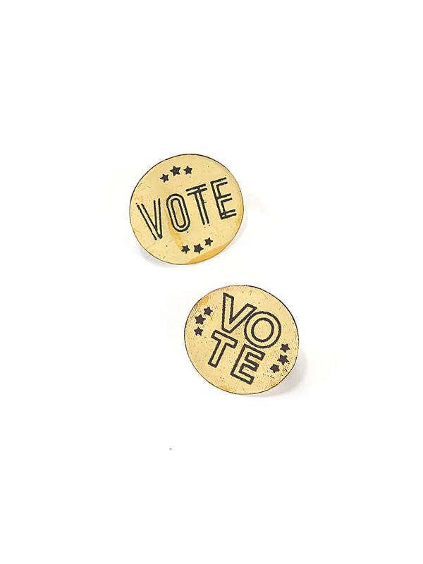 Vote Pins - Brass