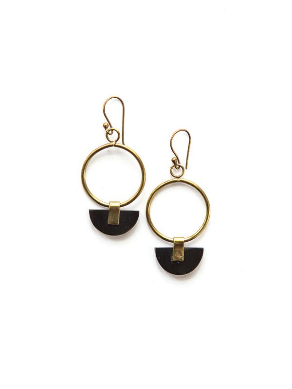 Art Deco Half Moon Earrings