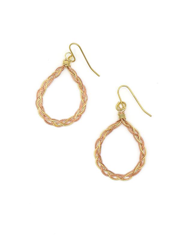 Braided Loop Teardrop Earrings