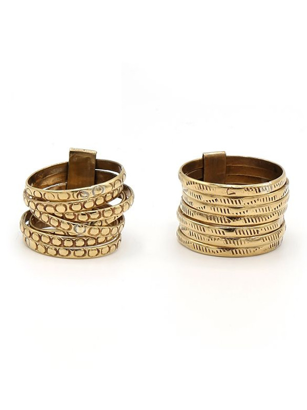 Stacked Armor Statement Ring