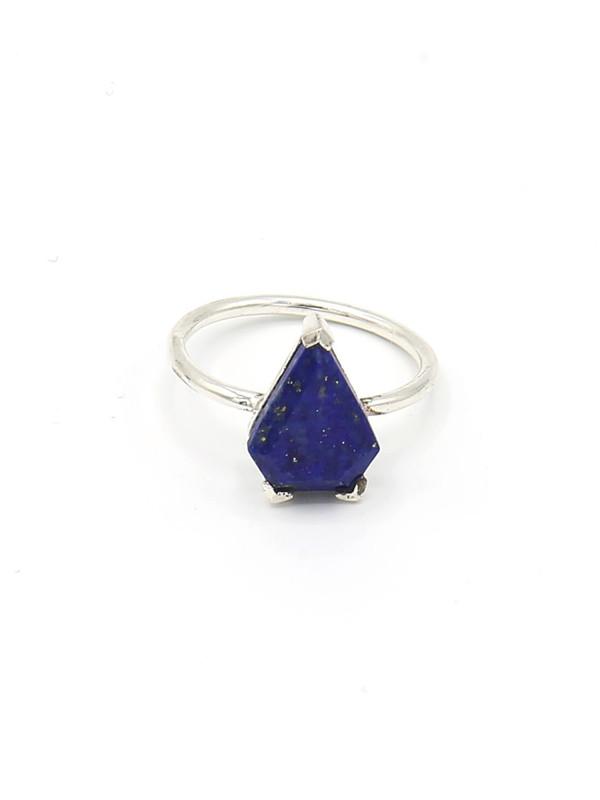 Pyramid Pronged Sterling Ring - Lapiz