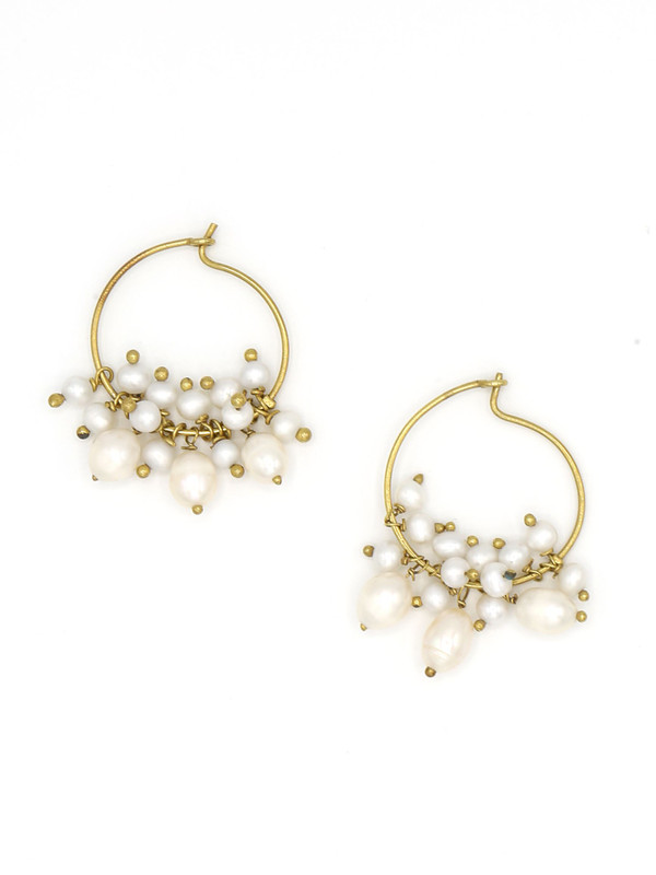Pearl Party Hoops
