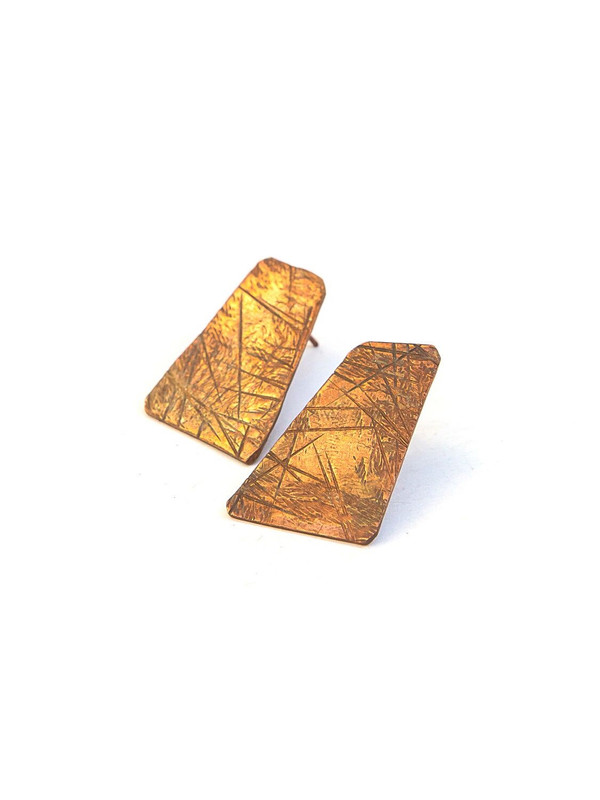 Maura Copper Stud Earrings