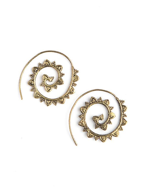 Upwards Spiral Earrings