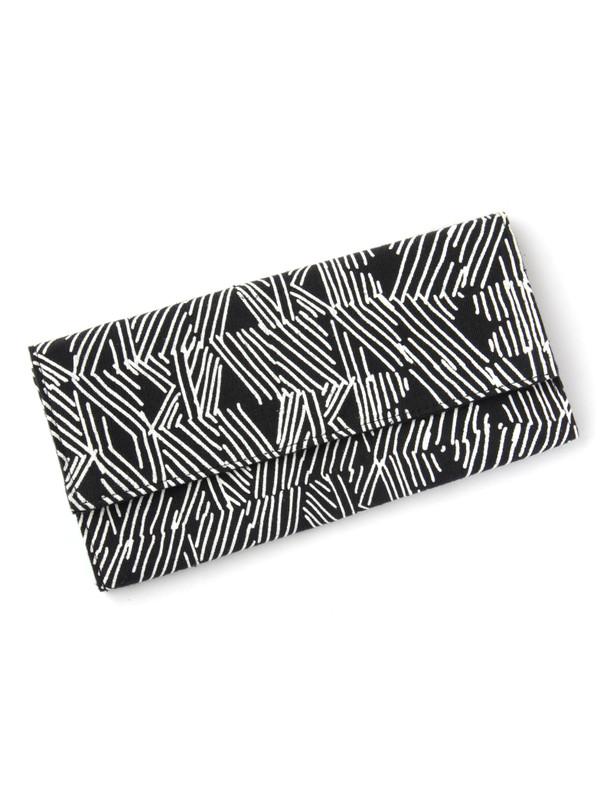 Black Matchstick Clutch Wallet