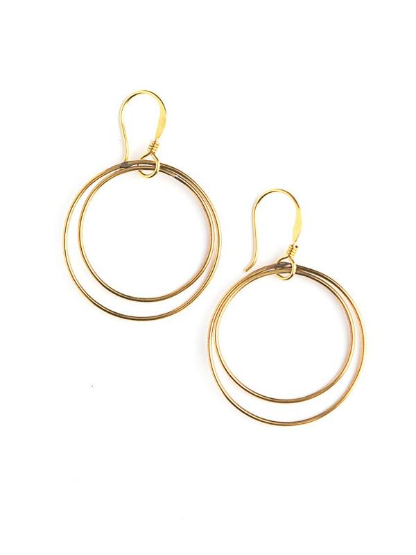 Double Moon Earrings - Gold