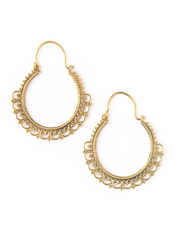 Paint Me Gold Earrings