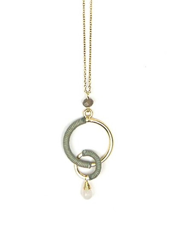 Wrapped Rings Necklace