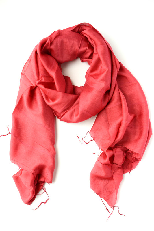 Lan Scarf - Light Red