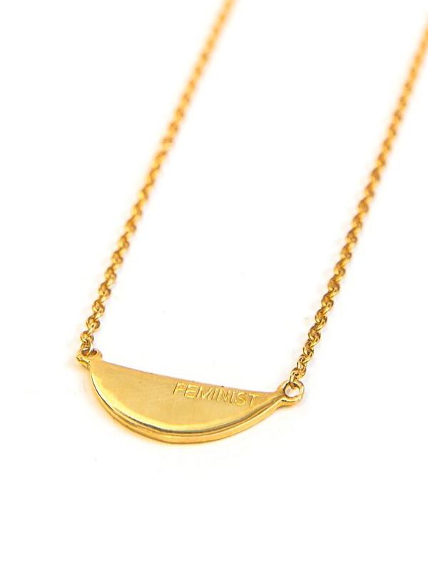 Fair Feminist Necklace - 14k Gold