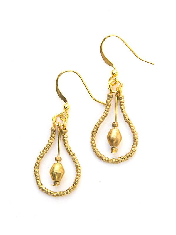 Drop Artillery Earrings - Brass