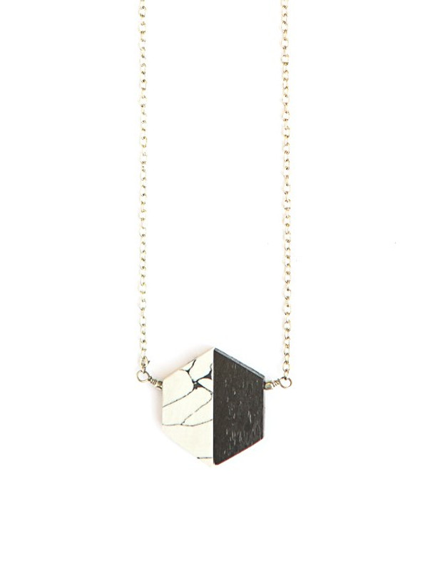 Balanced Geometry Necklace - Black