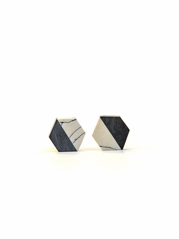 Balanced Geometry Stud Earrings