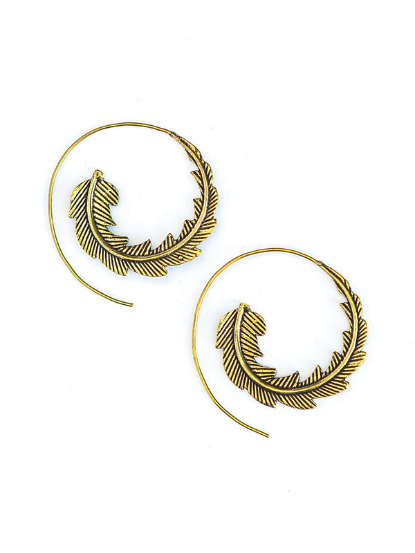 Phoenix Earrings - Brass