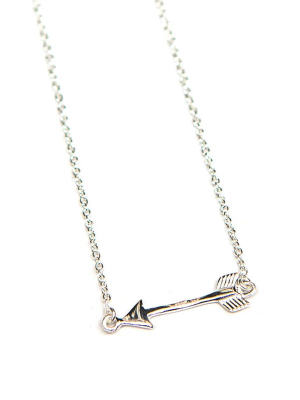 Wandering Arrow Sterling Necklace