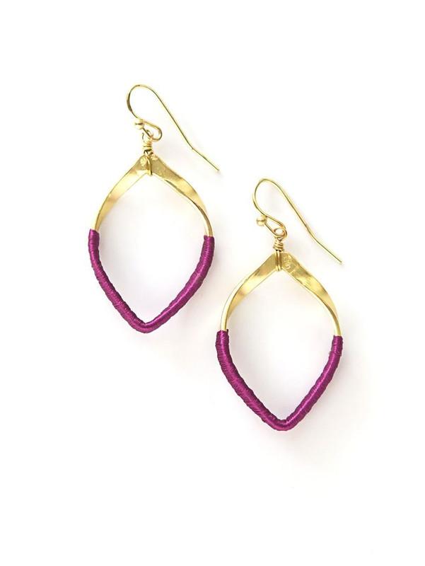 Pink Twisted Loop Earrings