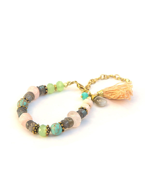 Playful Pastels Beaded Bracelet