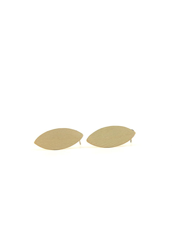 brushed brass oval studs_Fair Anita