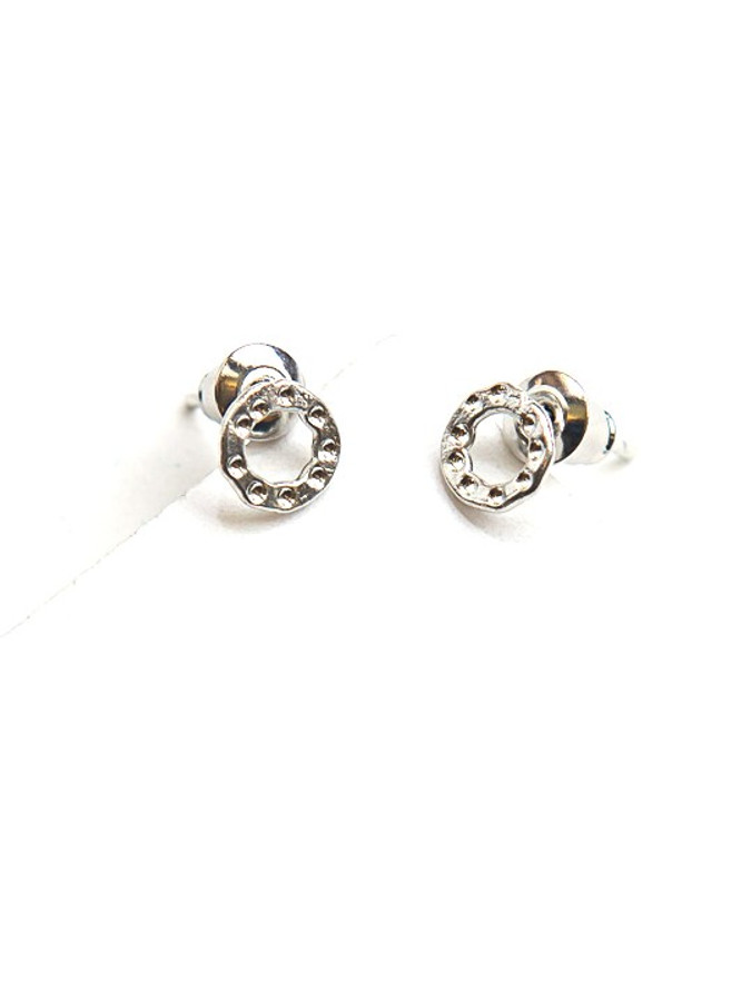 Simple Circle Studs - Silver