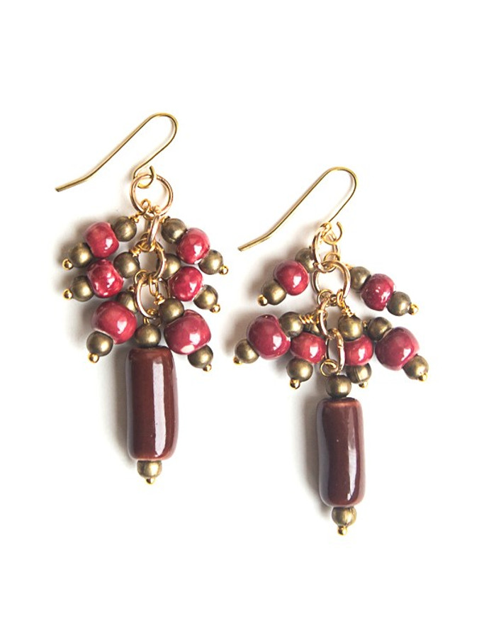 Tropical Berry Ceramic Earrings