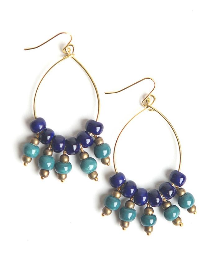 Waterfall Ceramic Earrings