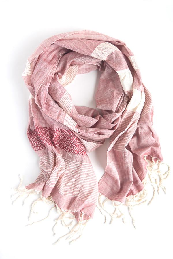 Tuyen Patterned Scarf - Pink