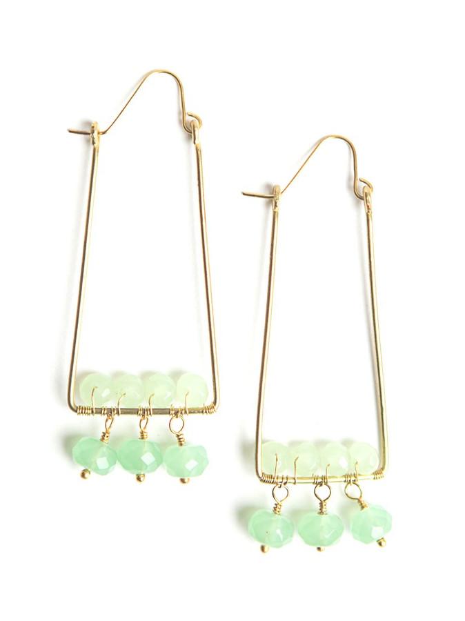 Jungle Palm Glass Earrings