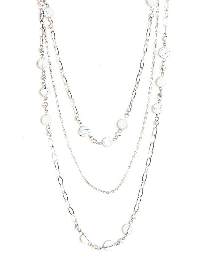 Synchronicity Multistrand Necklace - Silver
