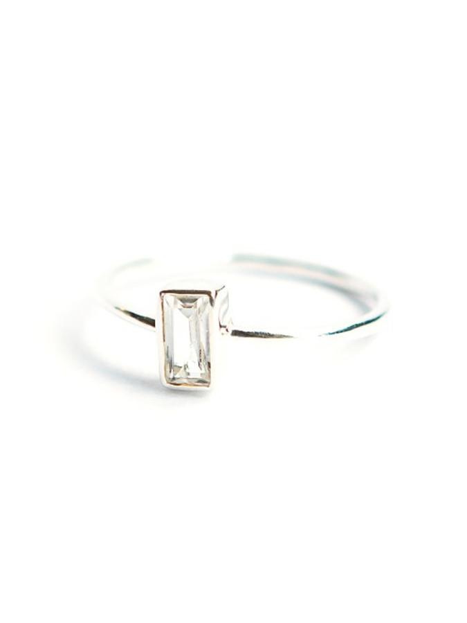 Prism Sterling Ring - Crystal