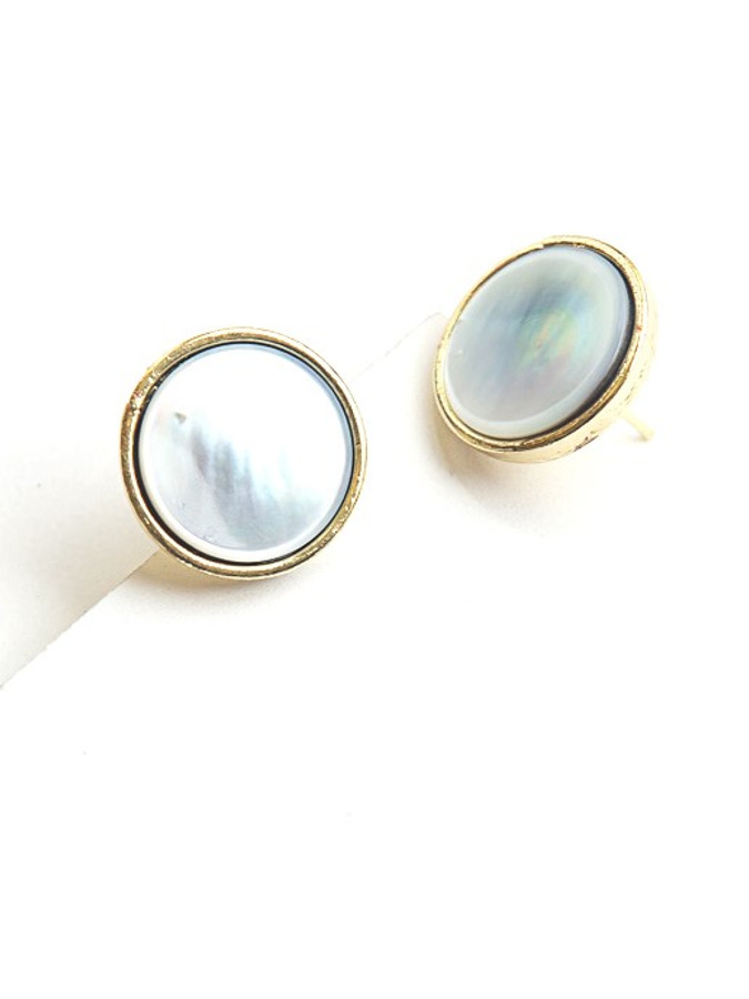 Mother of Pearl Brass Studs