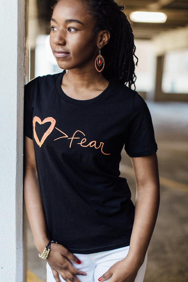 Love trumps fear organic cotton tee | Fair Anita