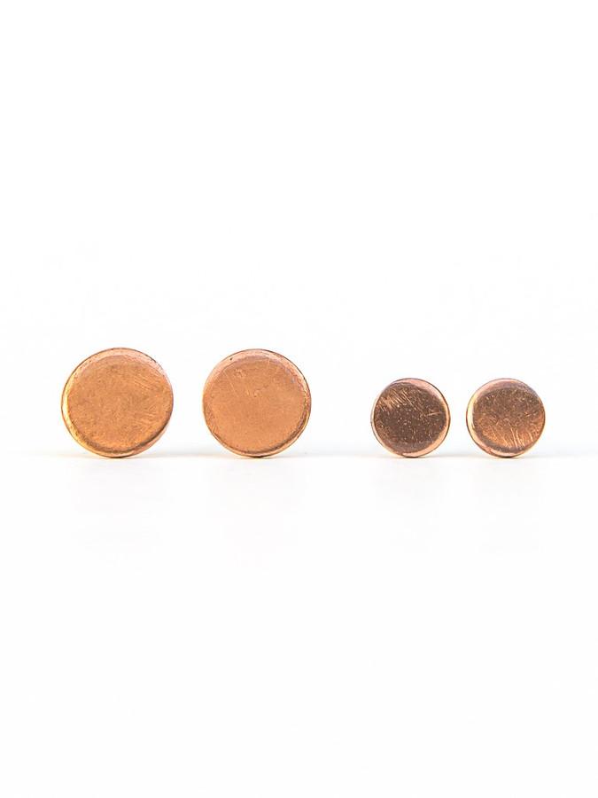 Lupe Copper Stud Earrings