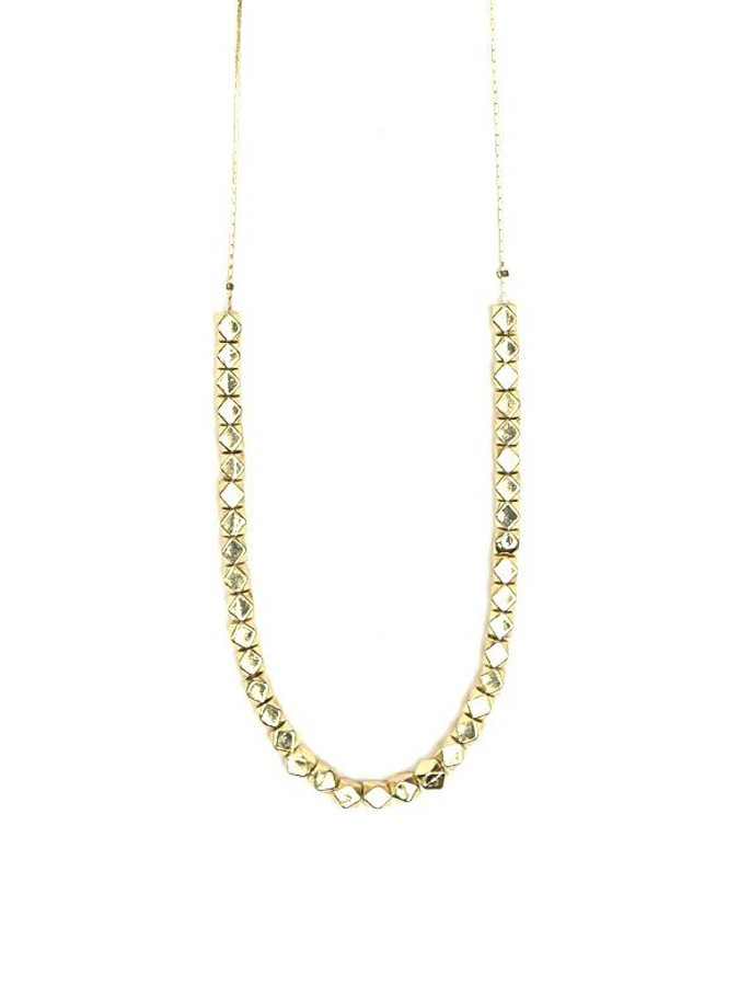 Long gold fair trade necklace   Fair Anita