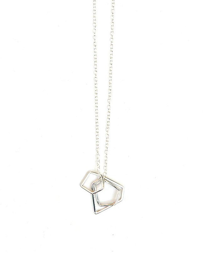 Sterling silver shapes short necklace | Fair Anita