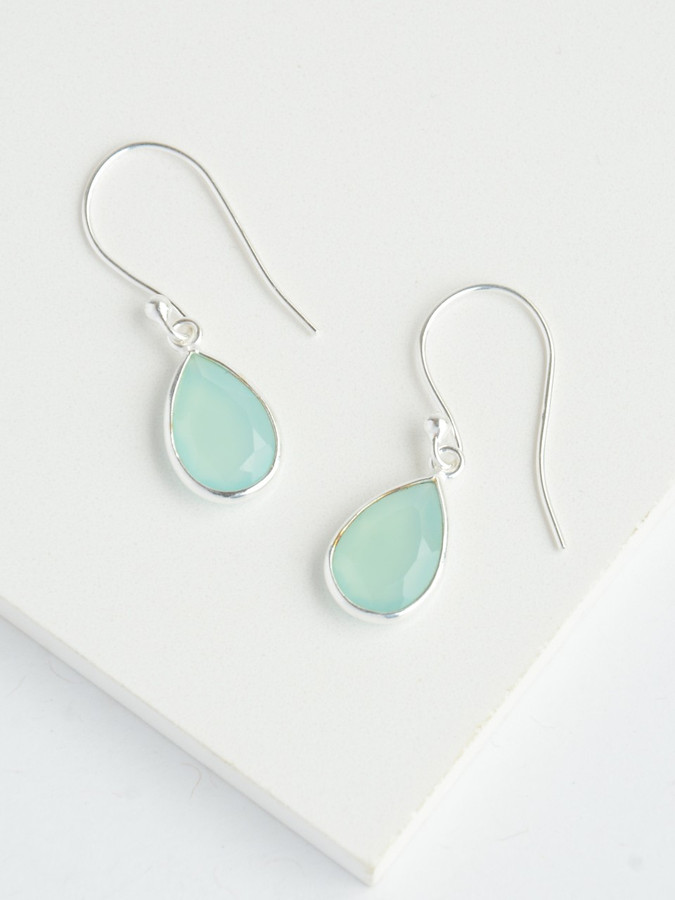 Sterling silver and aqua stone earrings | Fair Anita