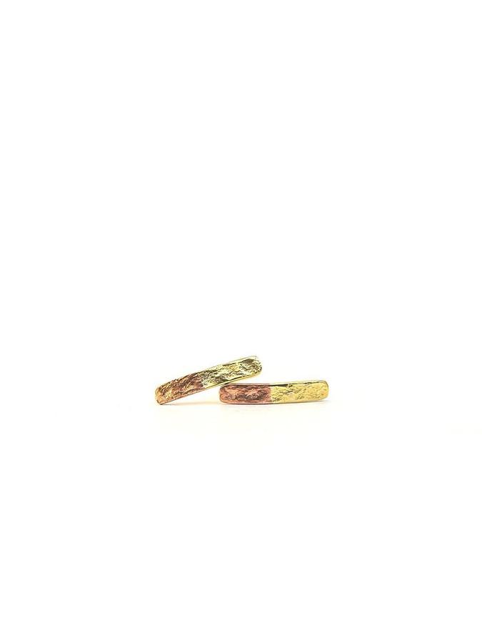 Two-tone stud earrings | Fair Anita