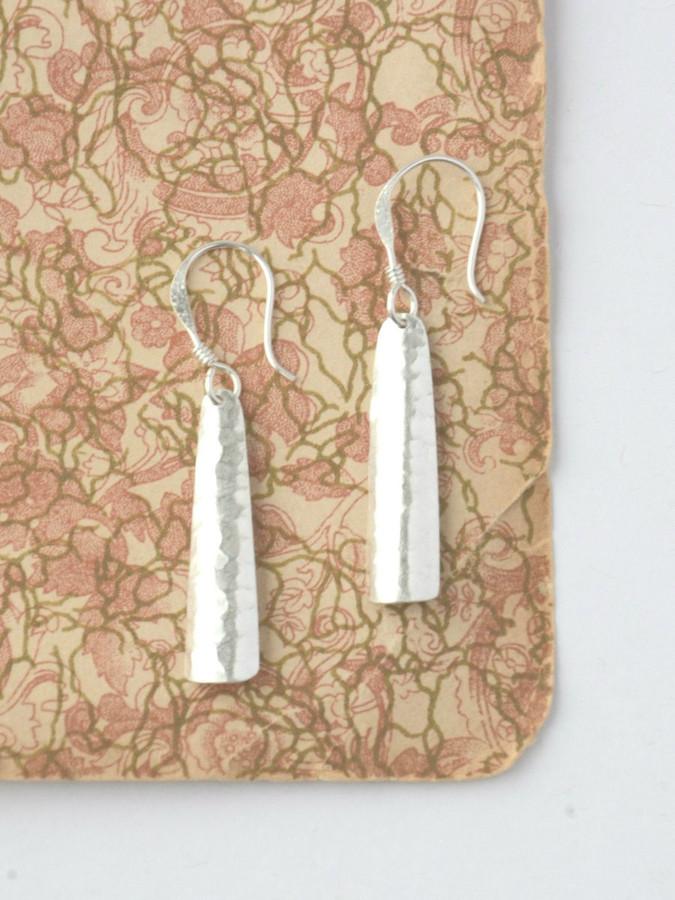 Everyday silver dangle earrings | Fair Anita