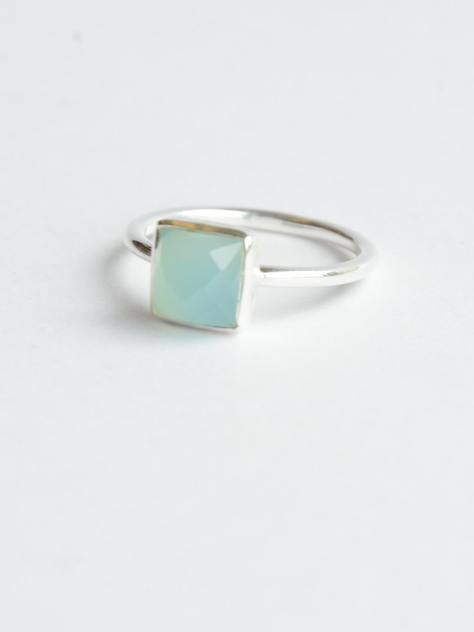 Sterling silver and aqua stone ring | Fair Anita