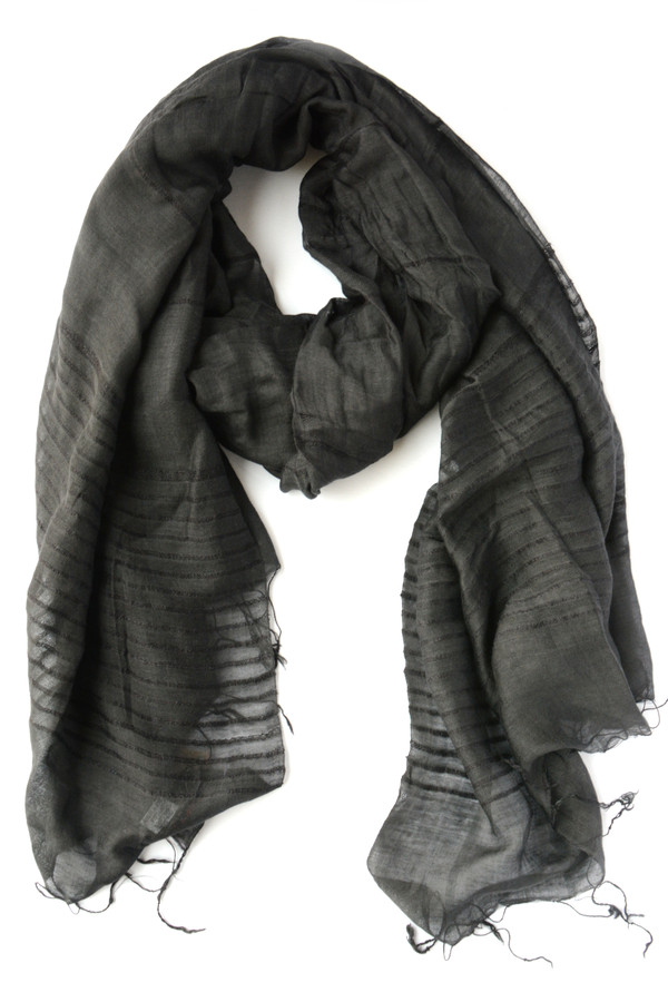 Anh Striped Scarf - Midnight