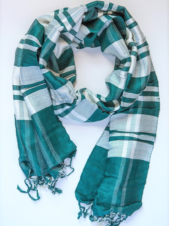 Cais Checkered Scarf - Blues