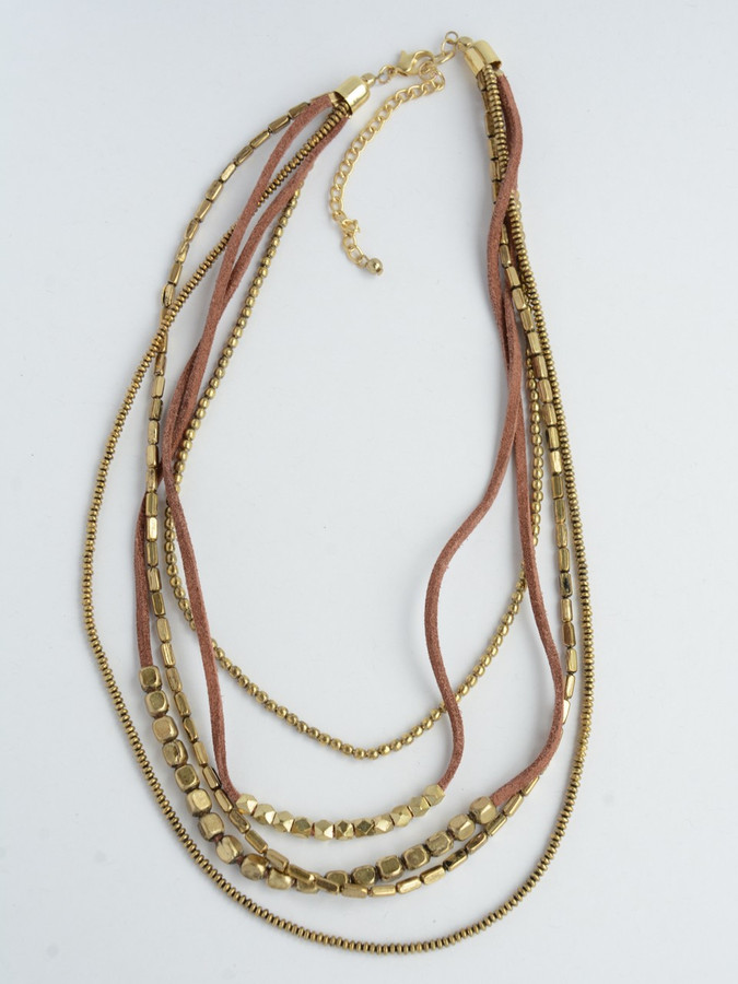 Peace Warrior Necklace - Brass