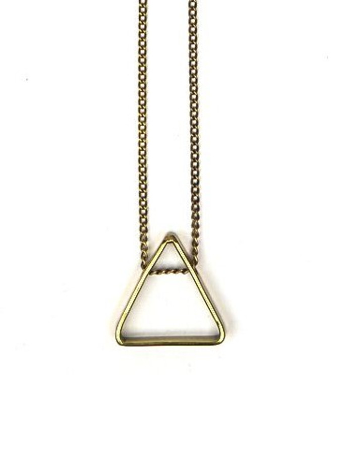 Long fair trade triangle necklace | Fair Anita